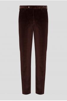 Мужские коричневые вельветовые брюки