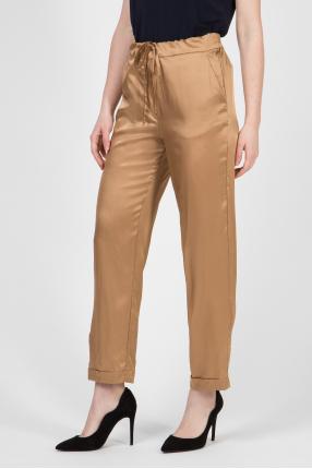 Женские золотистые брюки 1