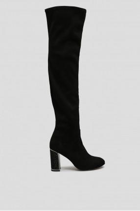 Женские черные ботфорты