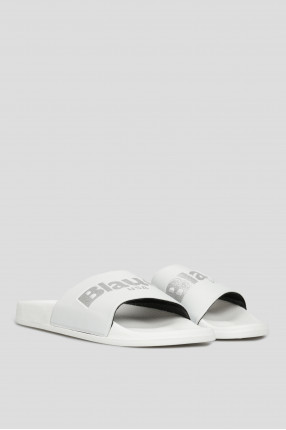 Женские белые слайдеры  1