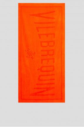 Мужское оранжевое полотенце