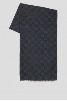 Мужской коричневый шерстяной шарф
