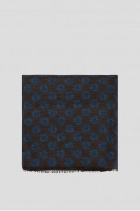 Мужской коричневый шерстяной шарф 1