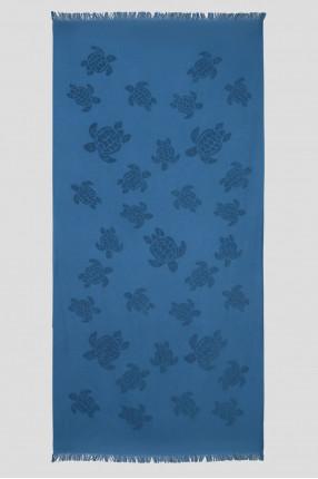 Мужское синее полотенце