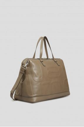 Мужская коричневая кожаная сумка 1