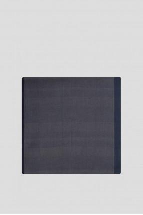 Женский синий кашемировый шарф 1