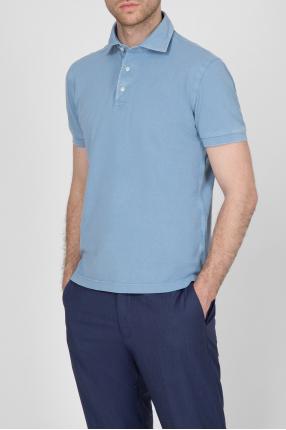 Мужское голубое поло 1