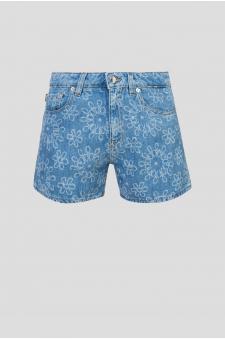 Женские голубые джинсовые шорты