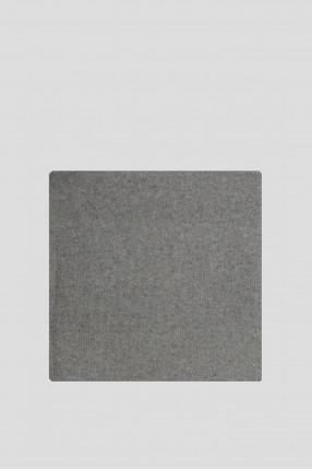 Женский серый кашемировый шарф 1
