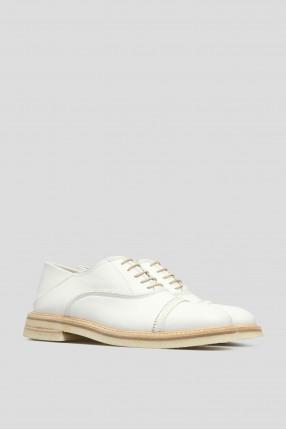 Женские белые кожаные оксфорды 1