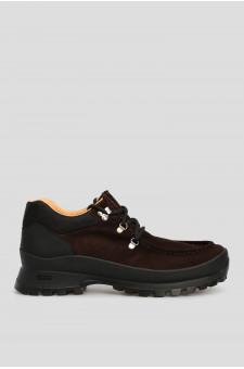 Мужские темно-коричневые замшевые ботинки
