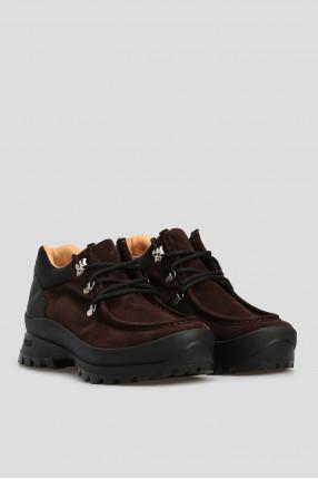 Мужские темно-коричневые замшевые ботинки 1